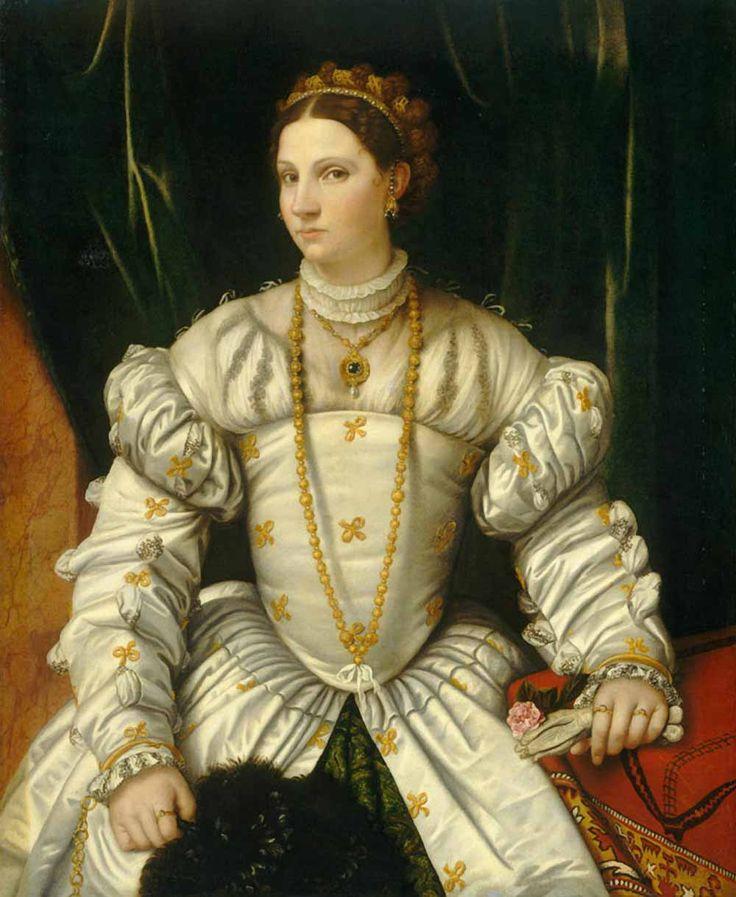 Моретто да Брешиа (Алессандро Бонвичино) . «Портрет дамы в белом» 1540-е Национальная галерея искусств. Вашингтон
