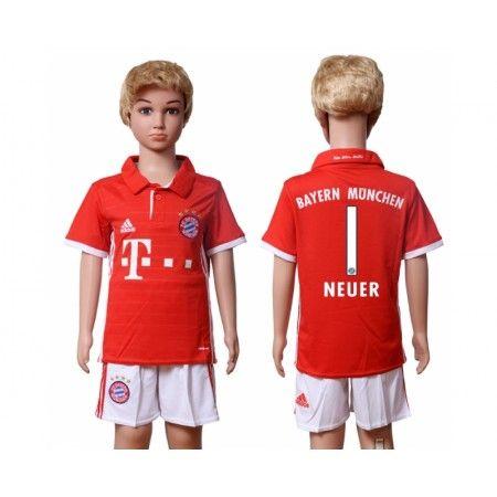 Bayern München Trøje Børn 16-17 #Neuer 1 Hjemmebanetrøje Kort ærmer.199,62KR.shirtshopservice@gmail.com