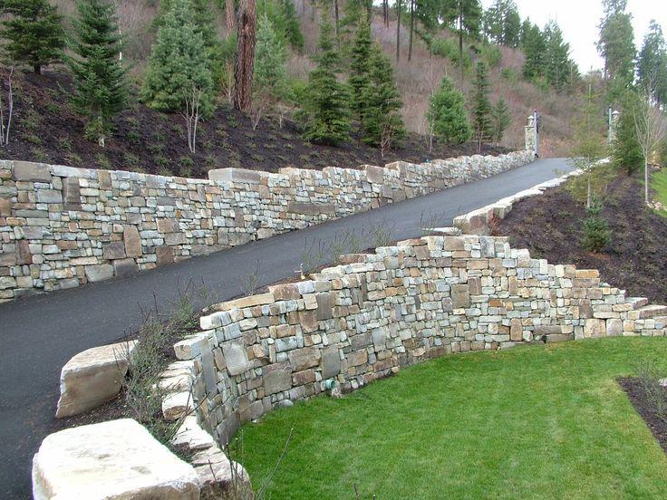 driveway retaining wall | Driveway Landscaping Retaining ...