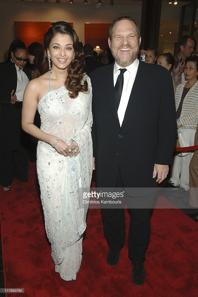 Aishwarya Rai and Harvey Weinstein during Time Magazine's 100 Most Influential People Celebration - Arrivals at Jazz at Lincoln Center in New York City, New York, United States.