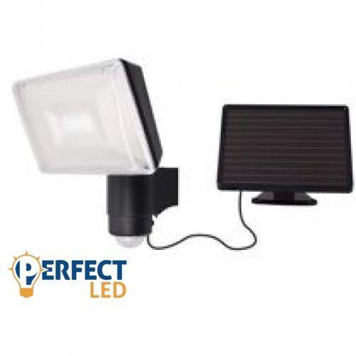 Napelemes LED reflektor, fényvető, lámpa, nagy teljesítményû LED fényvetõ szolár paneles mozgásérzékelõvel