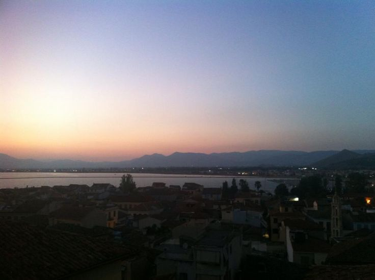 sunset from our hotel- Amfitriti Palazzo