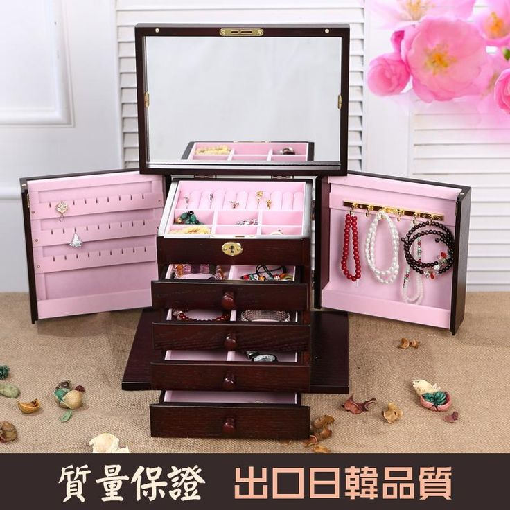 [Visit to Buy] Limited Real Europe Glossy Organizador Organizer High-grade Solid Wood Jewelry Box With Lock European Style Boxes Storage box #Advertisement