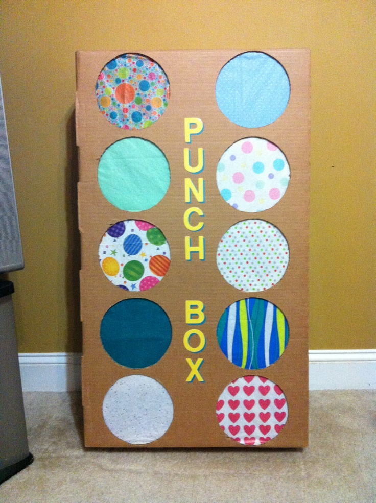 Piñata alternative...Parker's punch box! :)