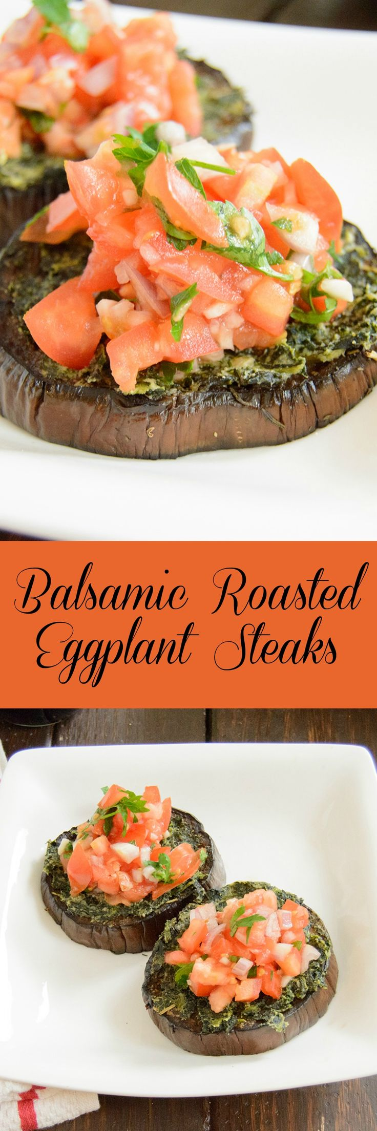 """Healthy Balsamic Eggplant """"Steaks"""" - need dinner inspiration?This is the perfect vegan, gluten free dinner and is even better the next day!"""