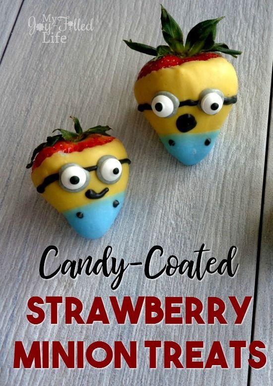 Candy-Coated Strawberry Minion Treats
