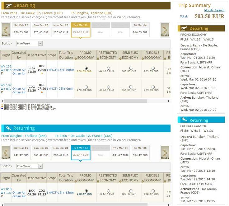 Vols vers Bangkok à partit de 501 € aller-retour