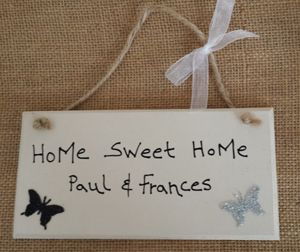 Butterfly Home Sweet Home Plaque