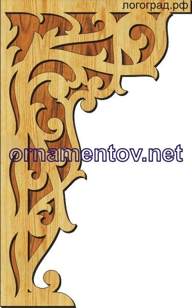 Scroll saw pattern for corbel