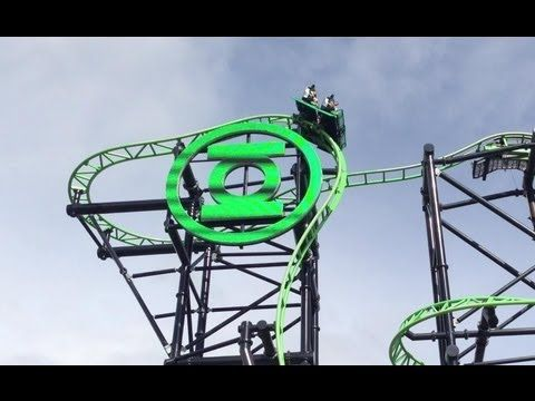 The most dangerous and thrilling ride at movie world theme park gold coast. Green lantern.