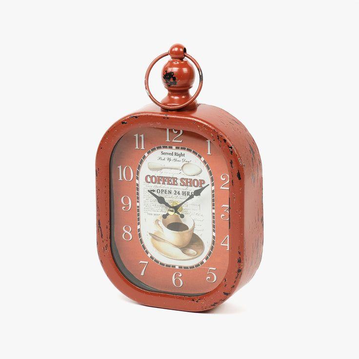 Relógio de Parede Coffee Shop Vermelho | referência 107867895 | A Loja do Gato Preto | #alojadogatopreto | #shoponline