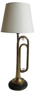 """Boy Scout Bugle Lamp $176. 26"""" tall"""