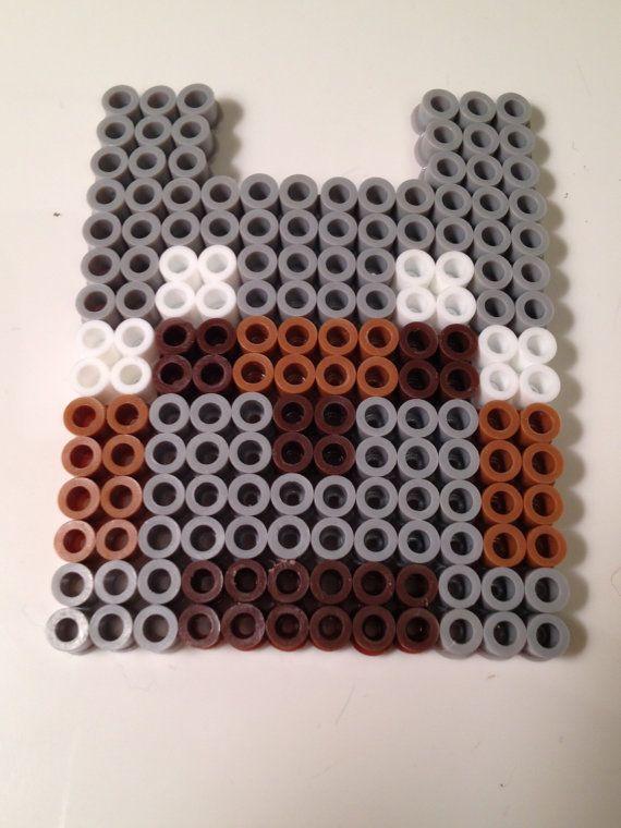 Minecraft Wolf Block Perler Beads by NerdChristmas