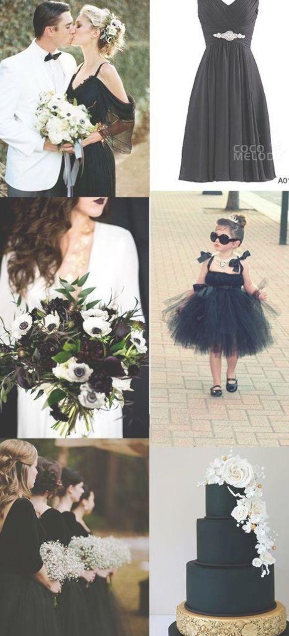 Black Wedding Theme Bridesmaid Dress Cocomelody Black