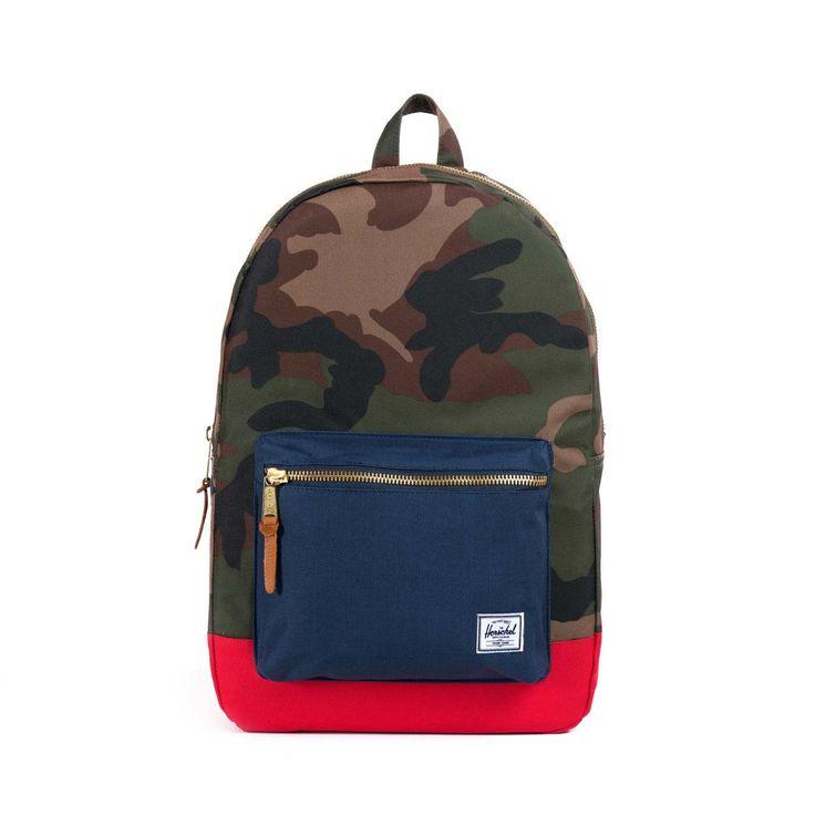 Herschel Supply Co. - Settlement Backpack, Woodland Camo/Navy/Red