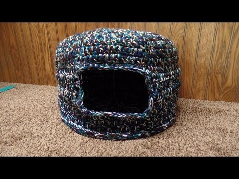 #Crochet Scrap Yarn Cat House Cat Bed #TUTORIAL, My Crafts and DIY Projects