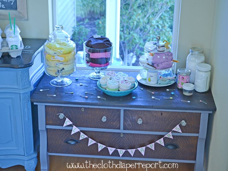 Cloth Diaper Cafe: Bakery Themed Decoration Ideas Freshly Made for a Cloth Diaper Baby Shower #FluffinAwesome
