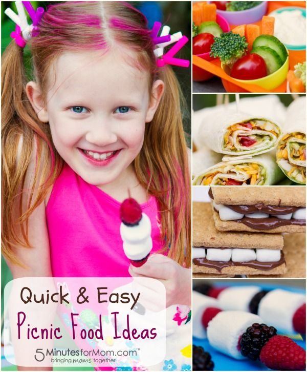 Quick and Easy Picnic Food Ideas - Make these fun finger foods with your kids and have a picnic together. Sponsored