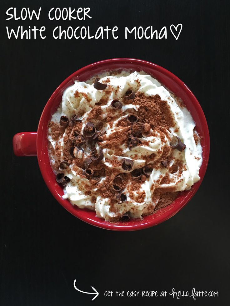 Slow Cooker White Chocolate Mocha