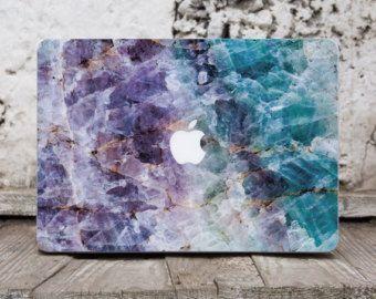 Mer marbre Macbook Pro 13 étui ordinateur sticker ordinateur portable affaire sticker Macbook Pro 2016 Macbook Air 11 sticker Macbook Pro 15 portable Pierre décalcomanies 076