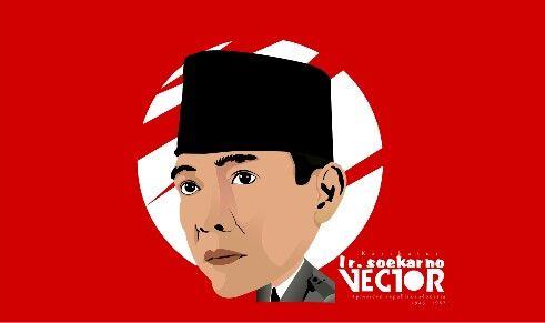 Karikatur presiden ir. Soekarno #karikatur #siluet #drawline #corel #line #vectorart #kaskus #graphicart #vector