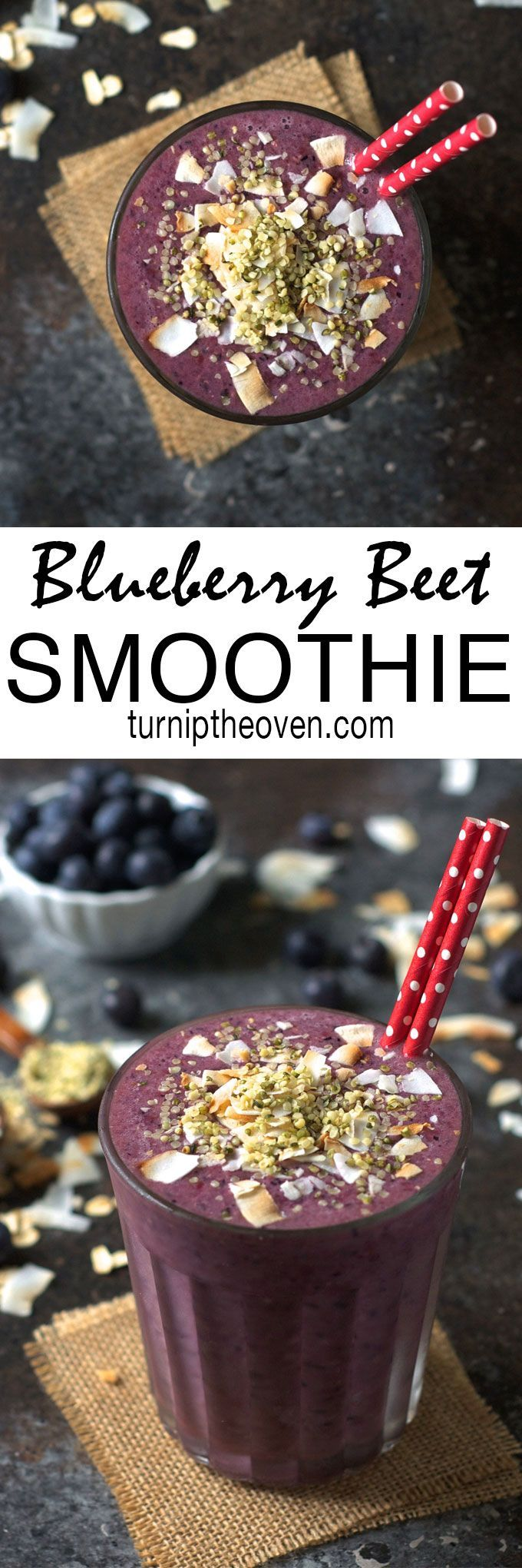 Start your day off right with this sweet, creamy blueberry beet smoothie with hemp seeds and toasted coconut. It tastes so much like a milkshake, you would never guess it is gluten-free, vegan, and loaded with antioxidants!