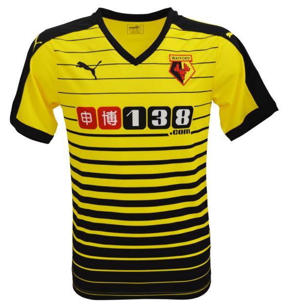 New Watford Home Kit 15-16- Watford FC Puma Jersey 2015-2016 | Football Kit News| New Soccer Jerseys