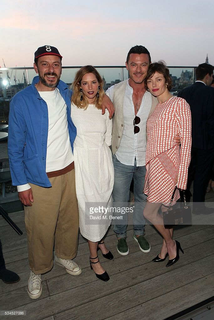 Enzo Cilenti, Sienna Guillory, Luke Evans and Camilla Rutherford attend the Rumpus Room Spring Fling at Mondrian London on May 26, 2016 in London, England.