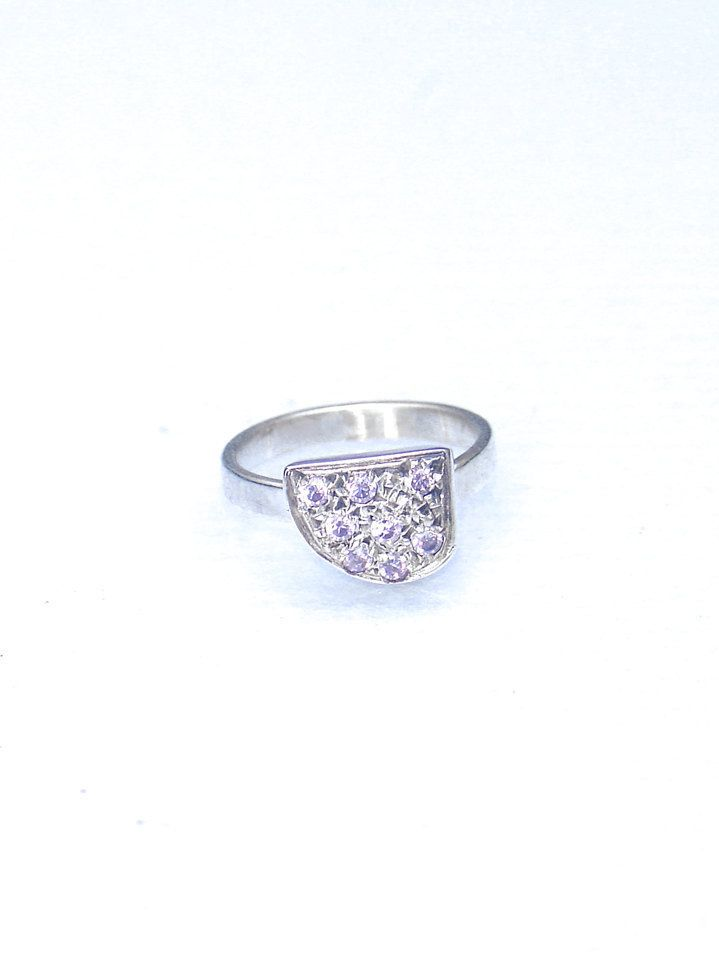 Purple CZ Midi Ring - Zirconia Midi Ring - Dainty Stacking Ring - Gift For Her - Purple Fashion - Purple Zirconia Knuckle Ring - Dainty Ring by profoundgarden on Etsy