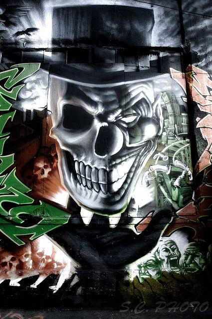 Evil Wicked Jester Skulls   Pointz- Evil Clowns