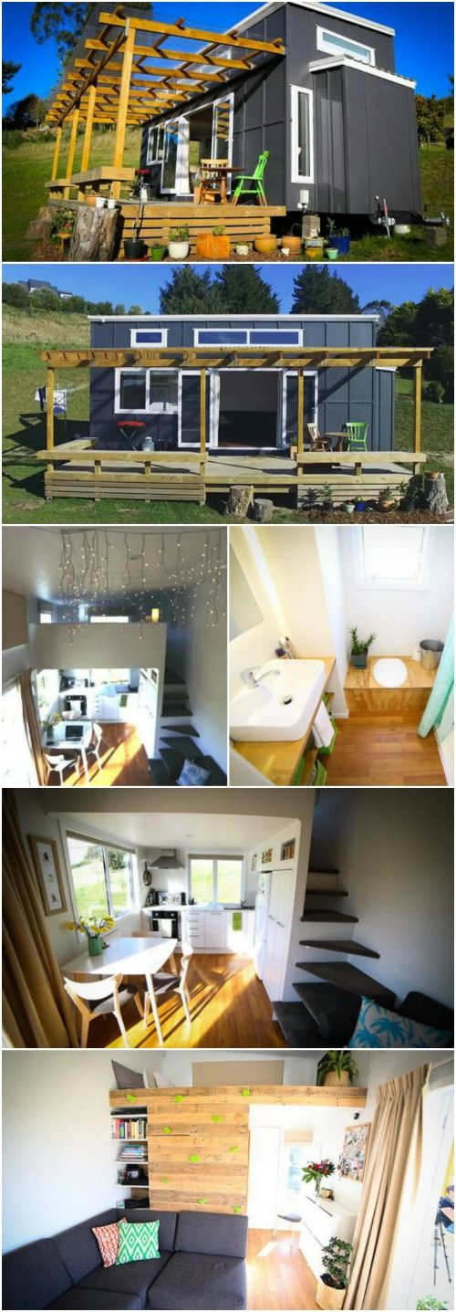 Adventurous Tiny House on Wheels Built by a Young Couple - One of the best things about building a tiny house is customization—you get to build a home that fits your personality. And we do see a lot of unique touches in tiny homes everyday, but this house built by Oli and Holly of New Zealand may just be one of the most unique we have seen!