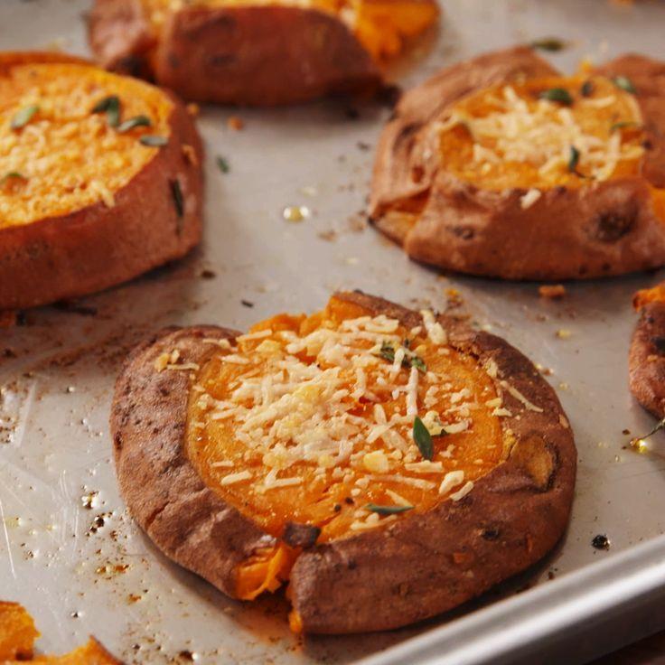 Smashed Sweet Potatoes Recipe Smashed Sweet Potatoes Recipes Food