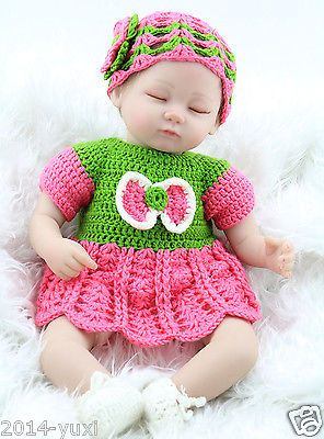 "17"" Realistic Reborn Baby Dolls Soft Vinyl Lifelike Sleeping Baby Doll Lovely"