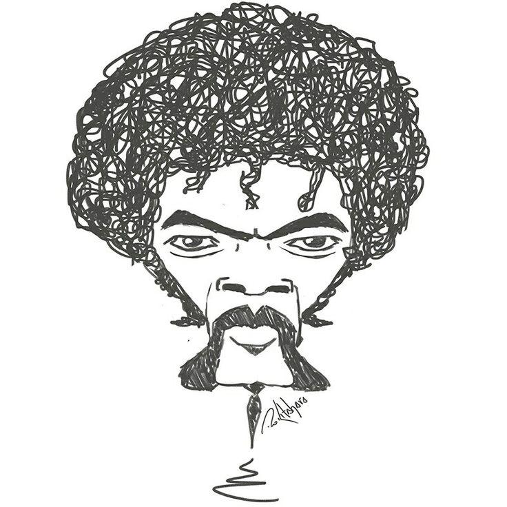 #samuelljackson #pulpfiction #tarântula #caricatura #caricatura #illustration #rokitahara