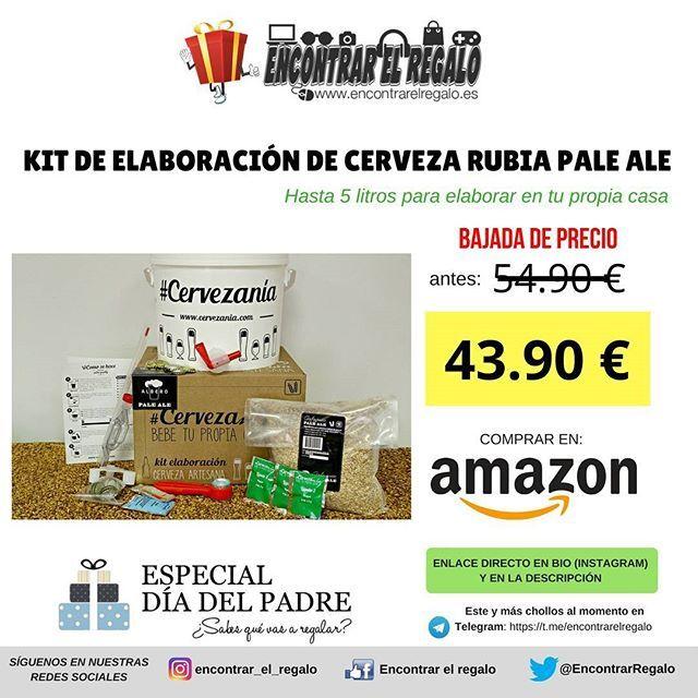 Kit de elaboración de cerveza rubia Pale Ale - hasta 5 litros  Baja de 54.90  a 43.90   contiene todo lo necesario para la elaboración de cerveza artesana en casa Comprar en Amazon: http://amzn.to/2IaYNkM  #Cerveza #CervezaArtesana #DiadelPadre