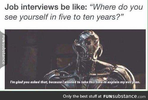Job interviews...