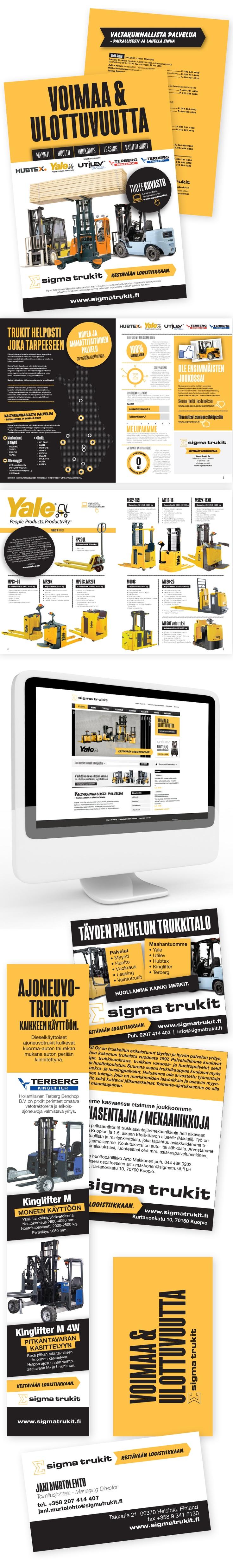 YRITYSILME + WEB-SIVUT + GRAAFINEN TUOTANTO; Sigmatrukit Oy, www.sigmatrukit.fi