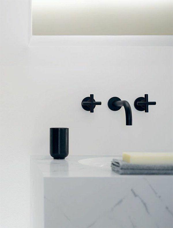 Badezimmerarmatur Badeinrichtung Ideen In Schwarz