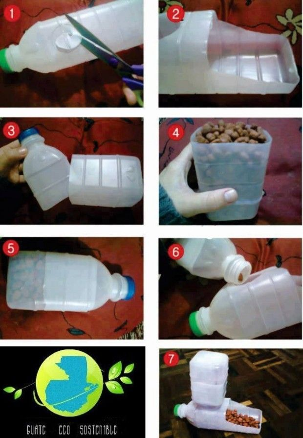 Dispensador de concentrado para mascota, reusando botes plásticos | Guate Eco Sostenible