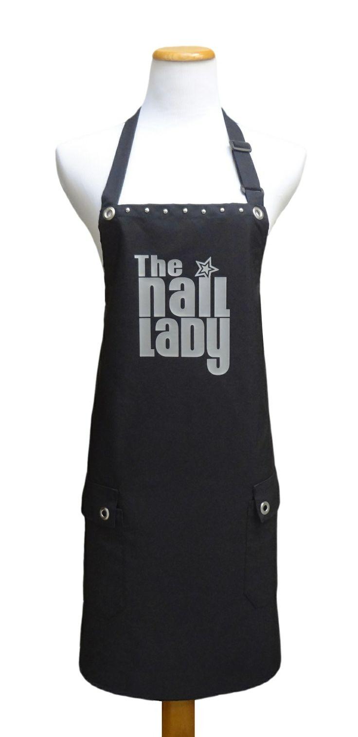 """The Nail Lady"" salon apron from Trendy Salon Aprons.com"