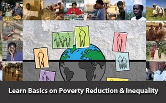 Global statistics reported by the World Bank show encouraging reductions of extreme poverty (defined as people earning less than $1.25/day) over the past two decades.  The actions of the governments of Brazil, Russian, India, China, and others have contributed to these gains.  Sub-Saharan Africa remains one of the most impoverished regions of the world, and development efforts have two goals; One: direct aid to lift people onto the economic ladder; and Two: access to economic opportunities.