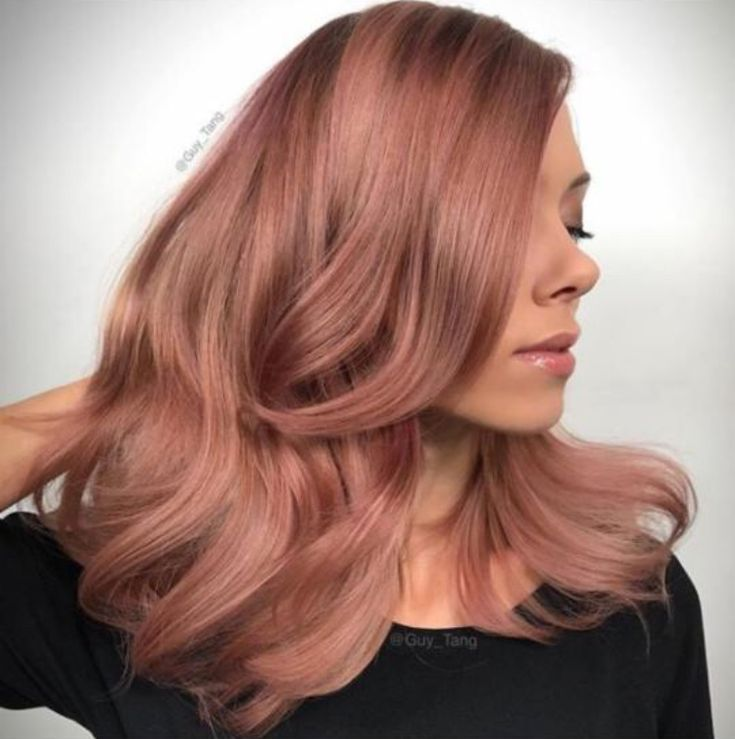 Цвет волос розовое золото фото