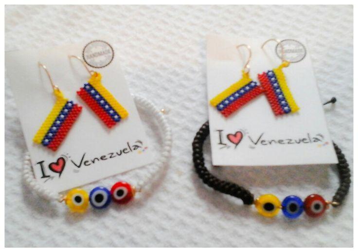 Pulseras y Zarcillos I ♡ Venezuela disponibles en Arepas Cafe New York 33-07 36th Av ,Astoria, New York
