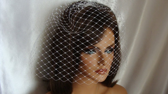 Merry Widow 12 inches Birdcage Veil by SusanCarolBridal on Etsy, $59.00