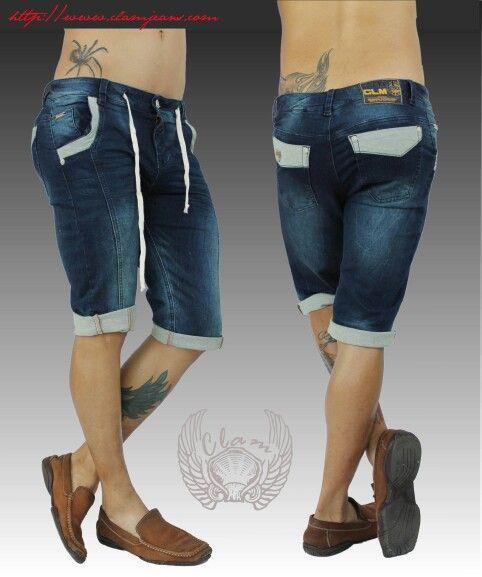 Bermuda jeans de hombre