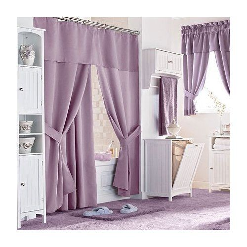 Bathroom, Amusing Purple Modern Shower Curtains With Bathroom Vanity  Lighting Decorating Ideas For Bathrooms: Delightful High End Shower Curtains  Ideas For ...
