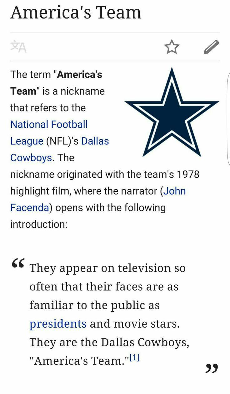 Dallas Cowboys a.k.a 'America's Team' ❤