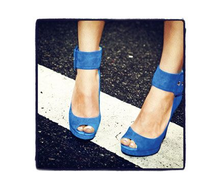 You're sexy and you know it, so flaunt it in peep-toe heels with serious ankle straps. $99; NineWest.com