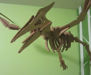 Cardboard Dinosaur Puzzle - with instructions. Awesome, easy and cheap decoration! (from original source)
