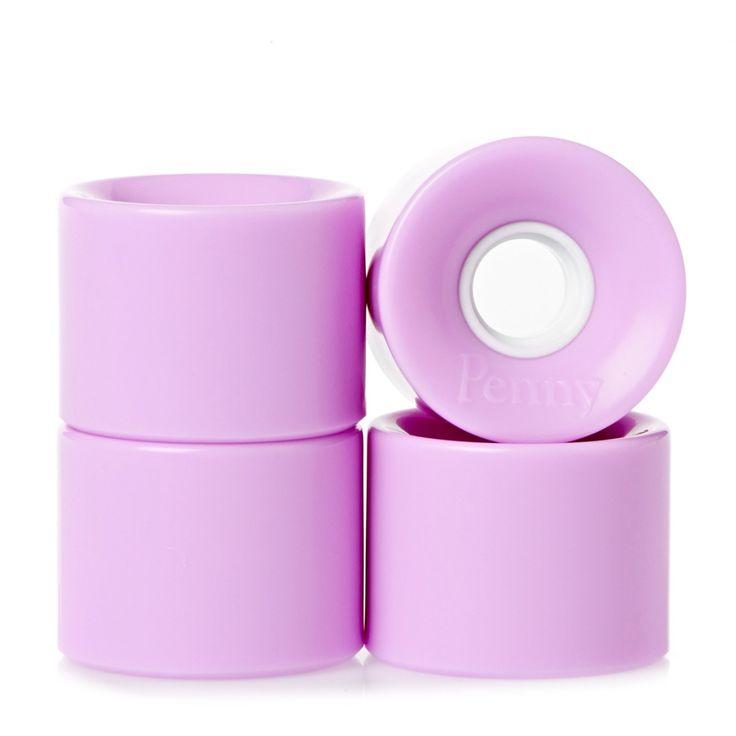Penny Skateboard Wheels - Penny Pastel Lilac Skateboard Wheels - 59mm